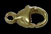 Bild von Karabiner Edelstahl PVD gold 11mm 1 VPE = 3 St.