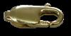 Bild von Karabiner Edelstahl ital. Form PVD gold  16mm 1 VPE = 3 St.