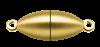 Bild von Edelstahl Schlößchen Olive 6,5mm matt  PVD gelb