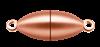 Bild von Edelstahl Schlößchen Olive 6,5mm matt PVD rosé