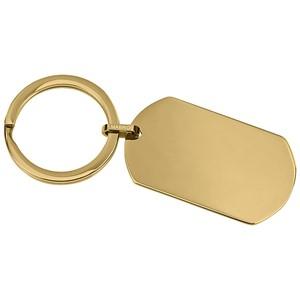 Bild von Edelstahl Schlüsselanhänger PVD Gold groß oder klein