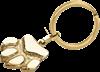 Bild von Edelstahl Schlüsselanhänger PVD Gold Pfote