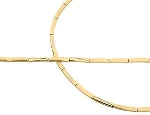Bild von Edelstahl Collier 45cm / Armband 19cm PVD /gold