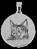 Bild von Edelstahlplatte rund 24mm Katze