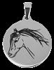 Bild von Edelstahlplatte rund 24mm Pferd