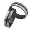 Bild von Ring Titan-Carbon mit Zirkonia / Damenring Gr. 50-62