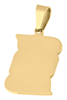 Bild von Gravurplatte vierkant 15x20mm PVD Gold