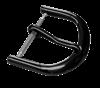 Bild von Edelstahlschließe PVD schwarz 12-20mm breit 1 VPE = 3 St.