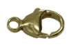 Bild von Karabiner Titan PVD Gold 9 - 13mm 1 VPE =  3 St.