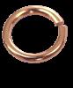 Bild von Binderinge Titan PVD rosé 1 VPE = 6 St. versch. Größen
